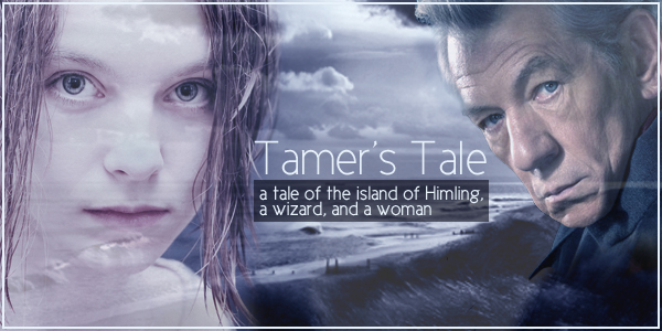 Tamer and Gandalf, in the background the sea